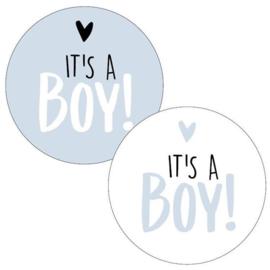 Stickers - It's a BOY! - blue assorti - per 5 stuks