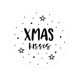 Stickers - XMAS kisses - per 5 stuks