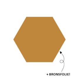 Stickers - 6-hoek metallic brons - per 5 stuks