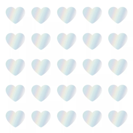 Stickers - Sow&Grow Mini Hearts - holografisch - per 10 stuks