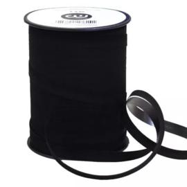 Lint - Velvet zwart - sierlint - per 3 meter