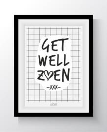 Kaart - Get well zoen -XXX-