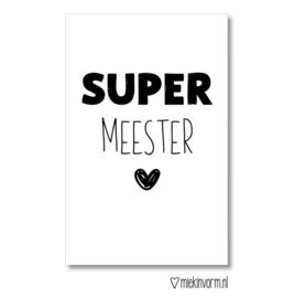 Kadokaartje - SUPER meester