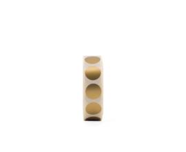 Stickers - dots goud mat - per 5 stuks
