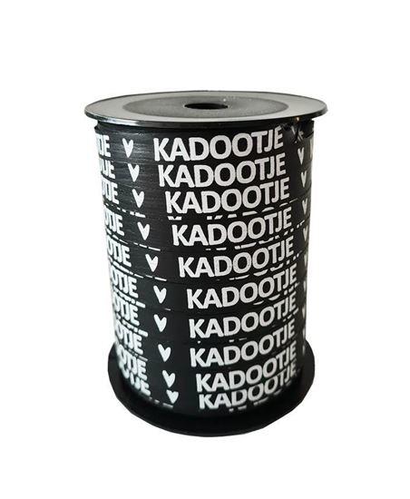 Lint - krullint 'KADOOTJE 🤍' zwart 10mm - 3m