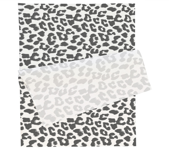 Tissue paper / Vloeipapier - Leopard zwart / wit - per 5 stuks