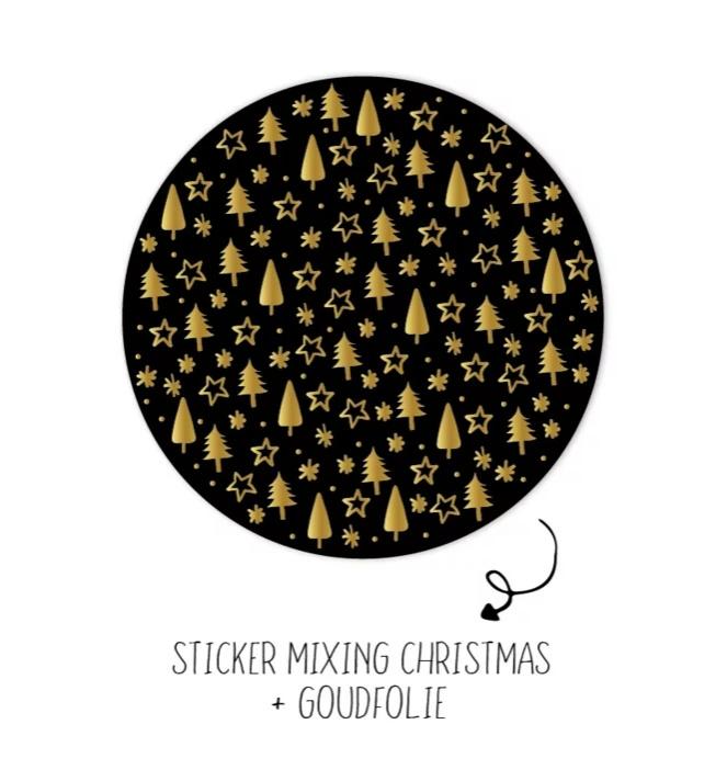 Stickers - trees and stars ⭐ - per 10 stuks