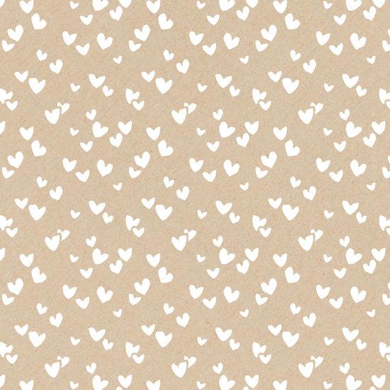Inpakpapier - Solo Hearts kraft - 2m
