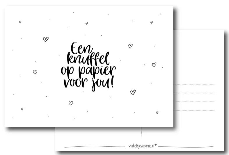 Kaart - een knuffel op papier voor jou!