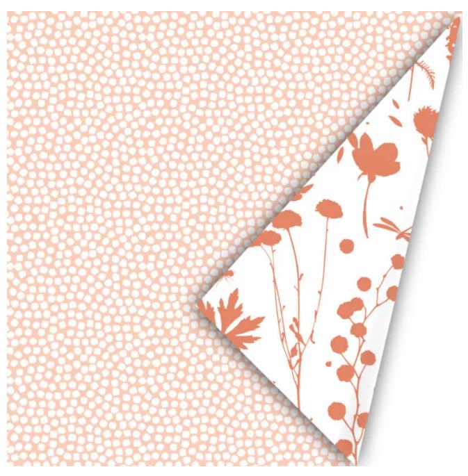Inpakpapier - Spring Cubes - peach / roest - 2m