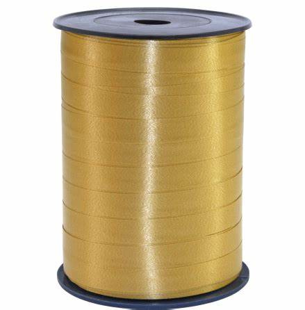 Lint - krullint goud 10mm - 3m