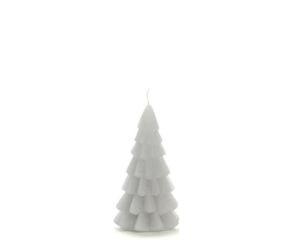 Kaars - Kerstboom - koelgrijs
