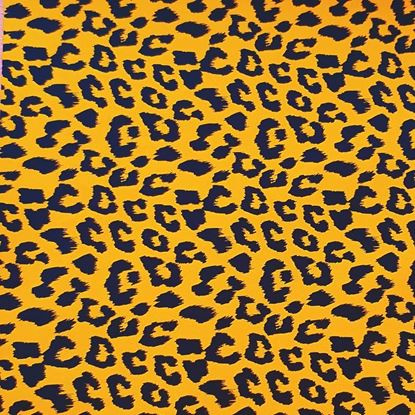 Inpakpapier - Leopard zwart / oker - 2m