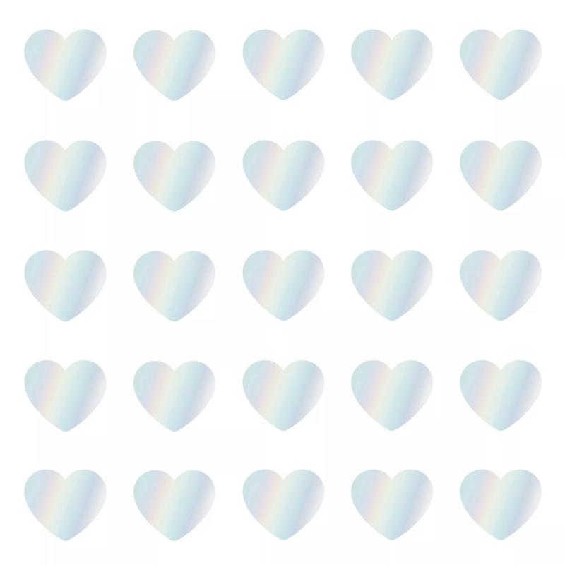 Stickers - Sow&Grow Mini Hearts - holografisch - per 10 stuks