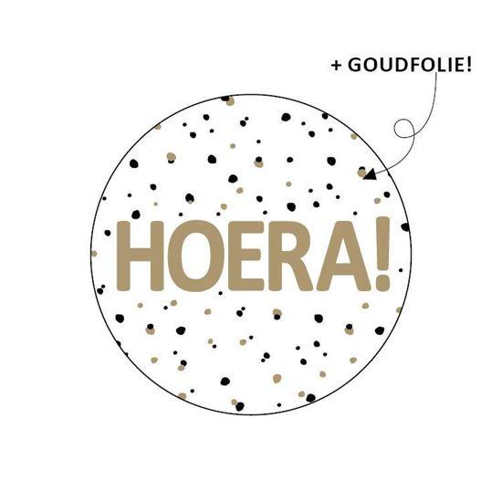 Stickers - HOERA! - per 10 stuks