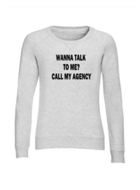 Light weight sweater ash grey Call my Agency
