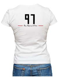 Ladies White Tee Slim fit
