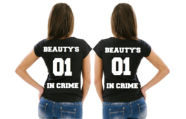 Twinning T-shirt set Beauty's in crime (2 st)