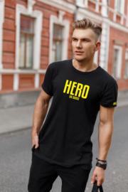 Dutchie Tshirt Held op sokken Zwart/Geel