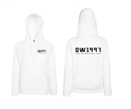 Ladies Hoodie White Slim fit