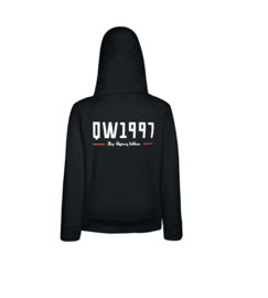 Ladies Hoodie Black Slim fit