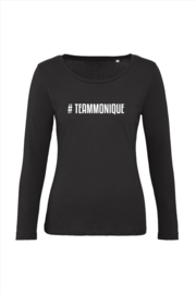 Longsleeve zwart Team Monique