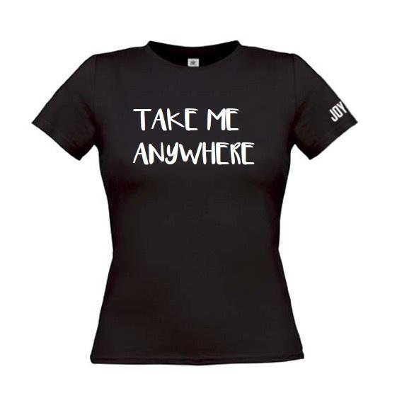Take me anywhere Zwart