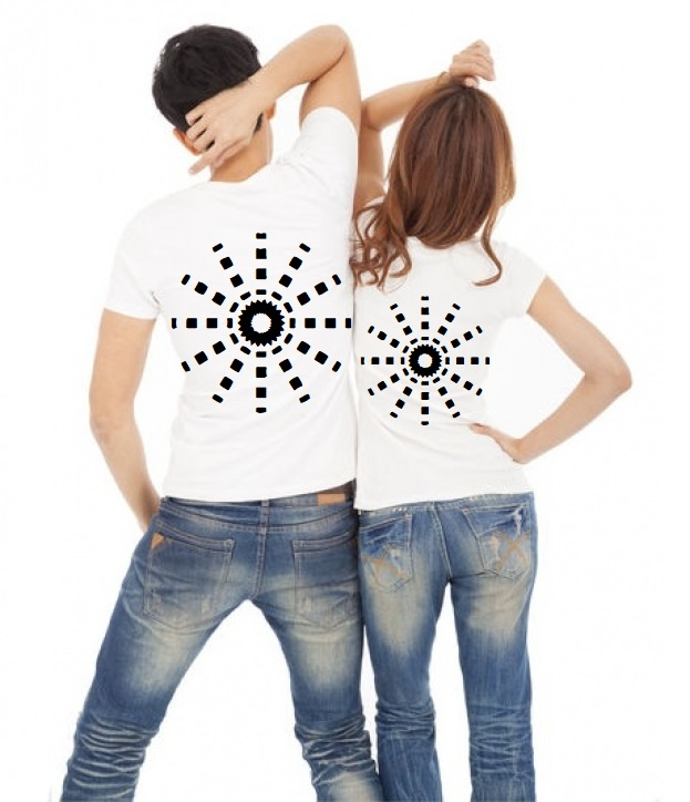 Twinning T-shirt set His & Hers (2 st)