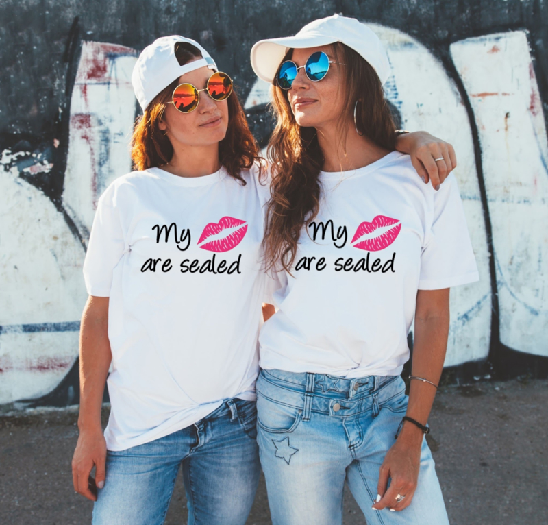 Twinning T-shirt set My lips are sealed (2ST)