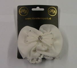 1904 HB Luxe zijde Haarstrik wit