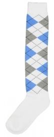 Kniekous RE wit/l.blauw/l.grijs