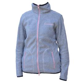 """Fleece Vest """"Countesse""""grijs/pink"""