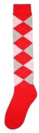Kniekous RE rood/roze/grijs 35-38