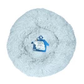 Fluffy Donut mand licht grijs
