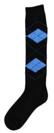 Kniekous RE zwart/l.blauw 35-38