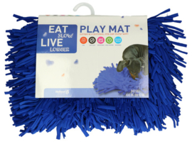 Eat Slow live Longer speelmat d.blauw
