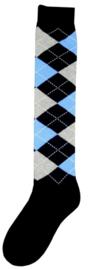 Kniekous RE d.blauw/grijs/blauw 35-38