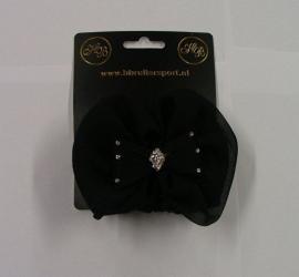 1904 HB Luxe zijde Haarstrik zwart