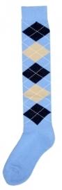 Kniekous RE l.blauw/d.blauw/beige