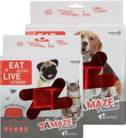 Eat Slow live longer Amaze Pinwheel Rood