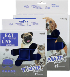 Eat Slow live longer Amaze Pinwheel blauw