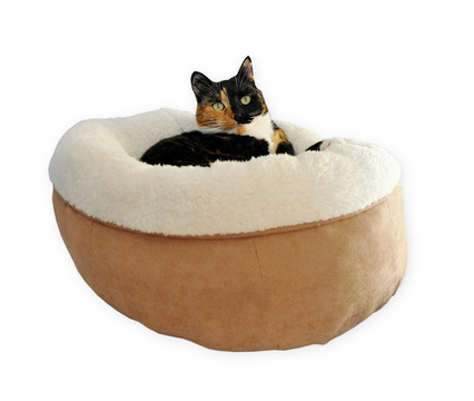 AFP Lambswool Donut Bed Tan