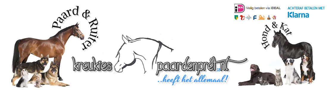 Paarden, honden en katten spullen kopen doe je bij Kreukiespaardenpret | Paarden, honden en katten artikelen | Goedkoop |  Snelle levering |  Kwaliteit