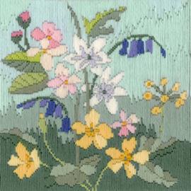 Borduurpakket Rose Swalwell - Long Stitch Seasons - Spring - Bothy Threads    bt-lss01