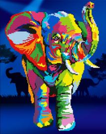 Diamond Art Elephant - Leisure Arts    la-da03-50457