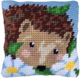 Kussen borduurpakket Daisy Hedgehog - Needleart World  nw-lh03-005