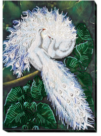 Kralen borduurpakket White Happiness - Abris Art    aa-ab-398