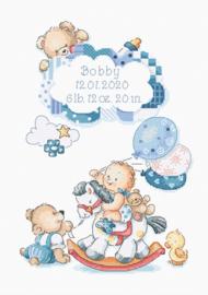 Borduurpakket It's a boy! - Leti Stitch    leti-0968