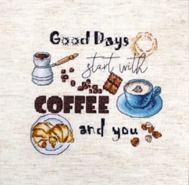 Borduurpakket Coffee Time - Leti Stitch    leti-0927