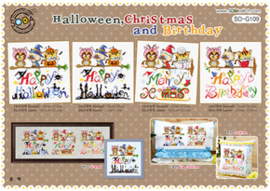 Borduurpakket Halloween, Christmas & Birthday - The Stitch Company    tsck-sog109